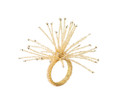 Spider Bead Burst Napkin Ring in Champagne