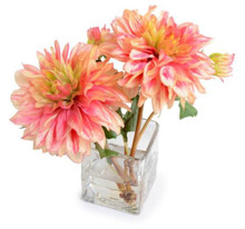 Dried Dahlia flower arrangement