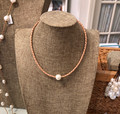 Perle by Lola - Braided Choker on Tan Leather