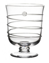"""Candlelight set the scene for a romantic night with this hurricane, which can also be used as a vase for fresh floral arrangements.  7.5""""h"""
