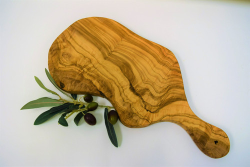 Olive Wood Handled Cheese Board Large