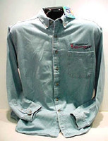 PONTIAC RACING DENIM BUTTON DOWN SHIRT