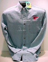 PONTIAC CHIEF DENIM BUTTON DOWN WOVEN SHIRT