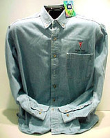 PONTIAC ARROWHEAD DENIM WOVEN SHIRT