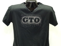OFFICIAL PONTIAC GTO LADIES RHINESTONE VNECK TEE SHIRT