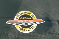 LIMITED EDITION 50TH ANNIVERSARY GTOAA WINDOW STICKER