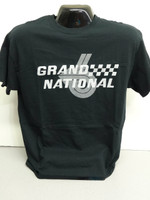 BUICK GRAND NATIONAL SILKSCREEN BLACK TEE SHIRT LICENSED BY GM