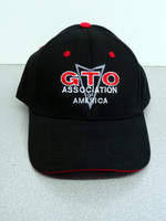GTO Association of America NS blk hat w/ red stripe