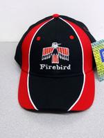FIRST GENERATION FIREBIRD BLACK/RED BALL CAP GM LICENSED