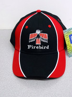 FIRST GENERATION FIREBIRD BLACK/RED BALL CAP GM LICENSED