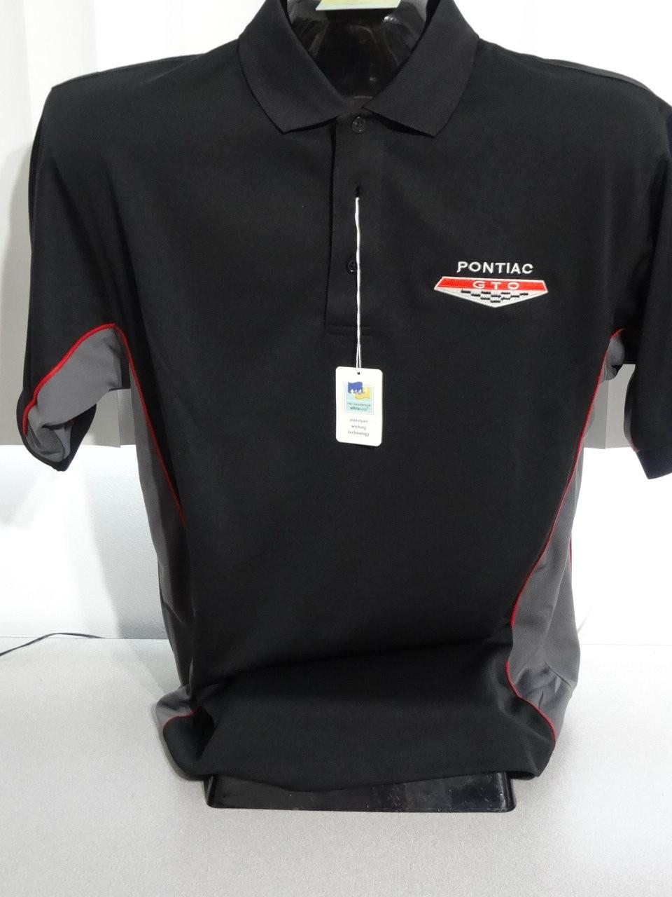 Pontiac Gto Tri Color Moisture Wicking Polo Shirts Custom Auto Apparel