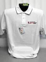 PONTIAC RACING TEXTURED TWO TONED POLO SHIRT BY GM