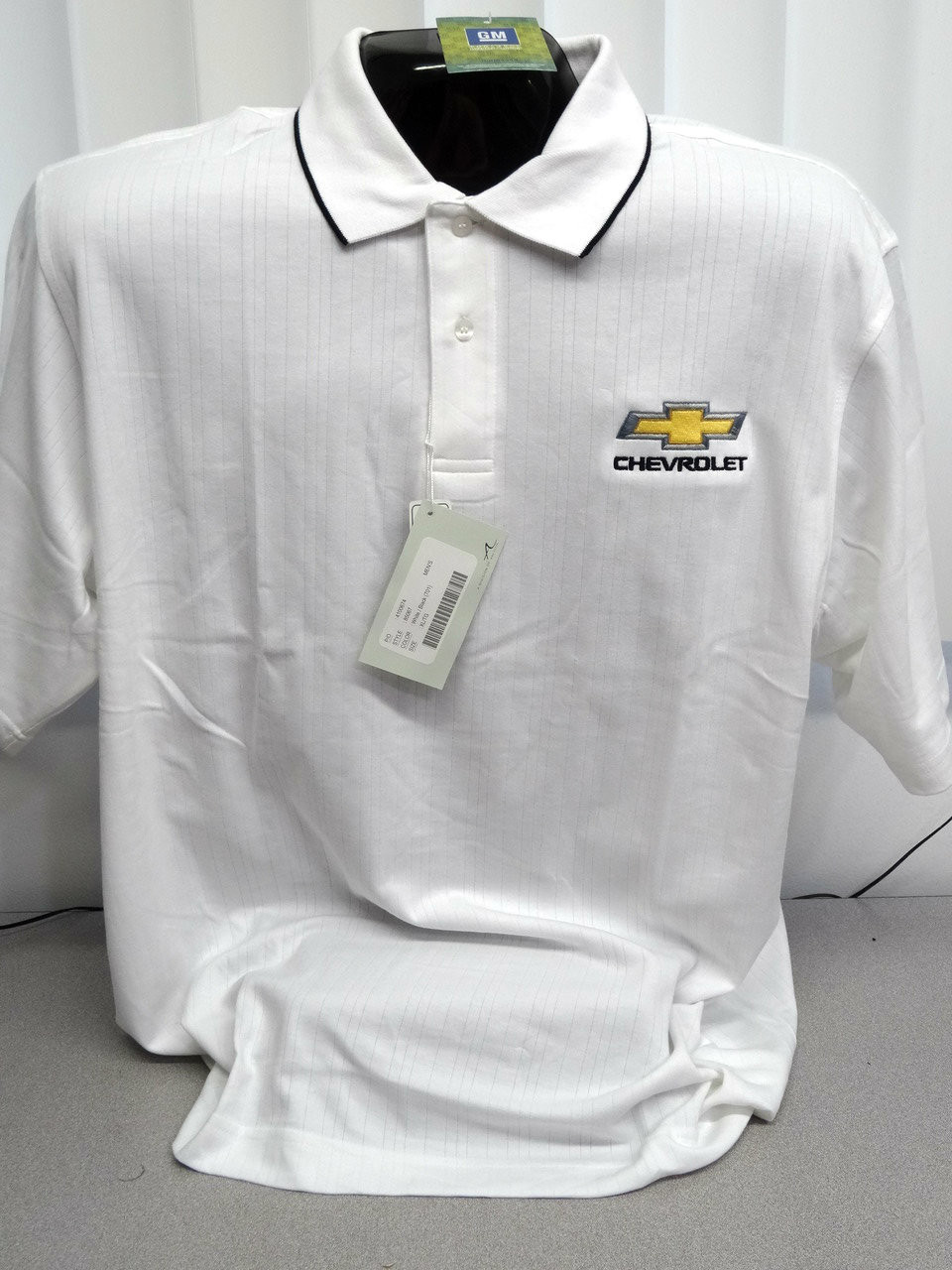 CHEVROLET LATE MODEL BOWTIE TEXTURED GM LICENSED POLO SHIRT