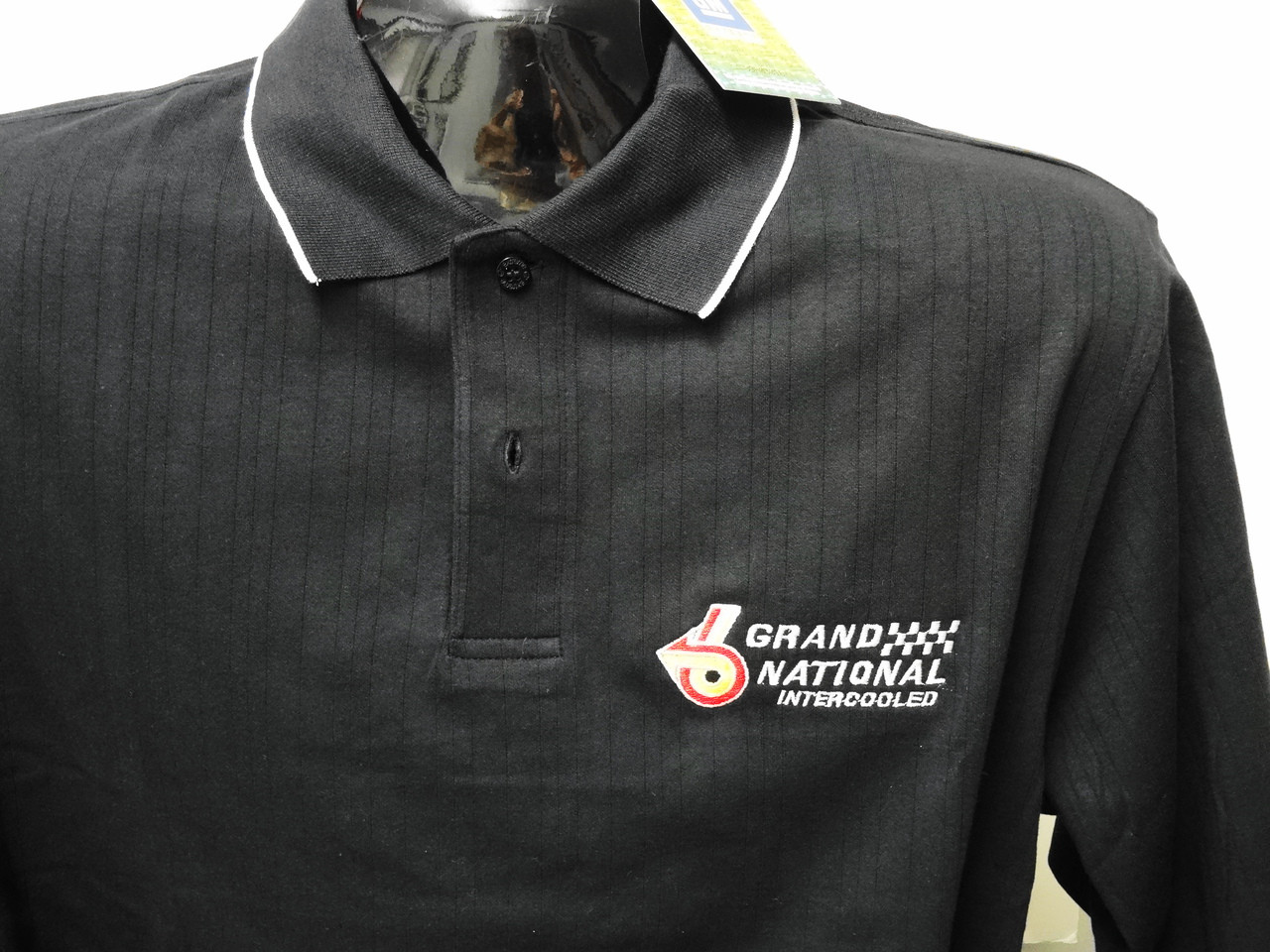 GRAND NATIONAL INTERCOOLED TURBO BUICK GM  POLO SHIRT GREY//BLK