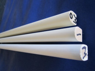 Wood Tilt Bar. Colors Available; White ; Ivory and Off White.  Starter holes for staples pre-drilled.