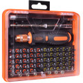 53-Piece Screwdriver Tool Kit w/Assorted Bits, Tweezers, 2 Extension Bars & Case - WT8027