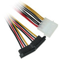 ATX Molex Power to Dual 90 degree SATA Power