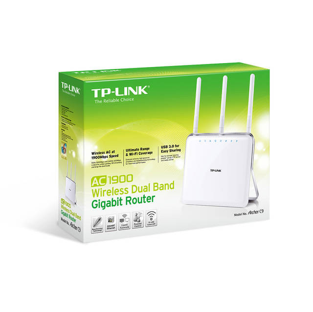 TP-LINK Archer C9 Wireless AC1900 Dual Band Gigabit Router - PC