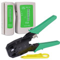 Network Cable Tester with RJ-45/RJ-11 Crimping Tool - Separate Retail Hanging Packages