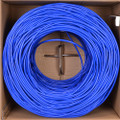 1000' Category 6 (Cat6) Uncapped UTP Ethernet Patch Cable (Blue)