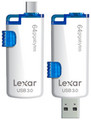 Lexar JumpDrive M20 32GB Dual Interface microUSB + SuperSpeed USB 3.0 Flash Drive for PC / Android White