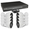 Lechange DK164R083 16-Channel 3TB Network DVR Security System w/8x4MP MotionEye Cameras & Remote Access