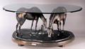 "Connie Foss Lost Wax Bronze ""We Three, Sis, Mom and Me"" Coffee Table Sculpture"