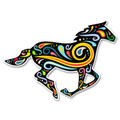 Paisley Swirl Running Horse Decal
