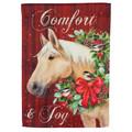 Comfort & Joy Christmas Garden Flag