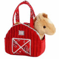 """7"""" Plush Horse in Stable Purse"""