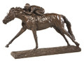 Photo Finish Horse and Jockey Sculpture