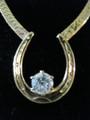 Single Stone Horse Shoe Necklace