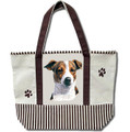 Jack Russel Canvas Tote