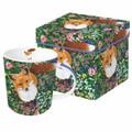 Fox in Flowers Mug