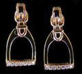 14KT Yellow Gold Stirrup Diamond Accent Earrings by Van Dell Jewelers  SKU # A18-1508D  Simple and elegant, stunning 14KT Yellow Gold Stirrup Diamond Accent Earrings match our belt buckle and necklace pendant.   A beautiful way to add equestrian flair to any outfit.   Looks great with jeans or dressed up for a night out.