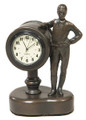 "Jockey Desk Clock  SKU # A21-1502A  Great desk clock to remind one of time left before post.  3""W x 4""H x 2""D"