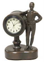 """Jockey Desk Clock  SKU # A21-1502A  Great desk clock to remind one of time left before post.  3""""W x 4""""H x 2""""D"""