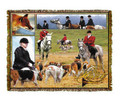 "The Hunt Throw  SKU # A19-1401EP  The fox hunt is beautifully displayed on this stunning throw.   100% cotton tapestry afghan.  Machine washable.  Made in the USA.  2.5 lbs.  60""L x 48""W"