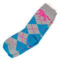 Youth Bright Argyle Socks