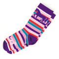 Youth Purple Bright Stripes Socks