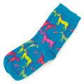 Youth Neon Horses Socks