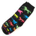 Youth Black Neon Horses Socks