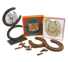 Serve them to your horse loving friends or give them as a unique gift. Clock not included.