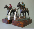 Horse and Jockey with Stirrup Bookends