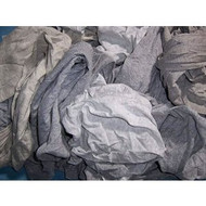 Rags - New Gray T-shirts - 25lb box - NU-175N*