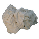 Rags - New White Mixed Texture T-shirts - 10lb box - NU-175M*