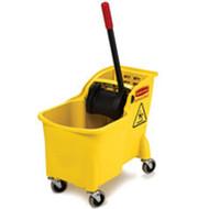 Mop Bucket & Wringer Combo - Rubbermaid 31qt Tandem - RM7380-16*