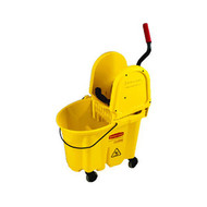 Mop Bucket & Wringer Combo - Rubbermaid 35qt WaveBreak - RM7577*