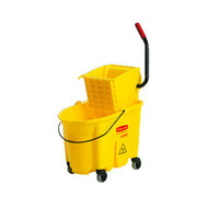 Mop Bucket & Wringer Combo - Rubbermaid 35qt WaveBreak - RM7580-16*