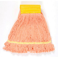 Wet Mop Head - cotton/synthetic blend - looped ends - LBI501OR